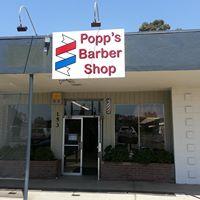 Popp's Barber Shop logo