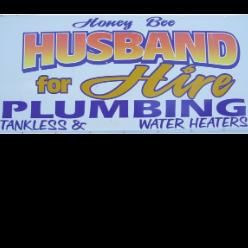 Honey Bee Husband For Hire Plumbing logo