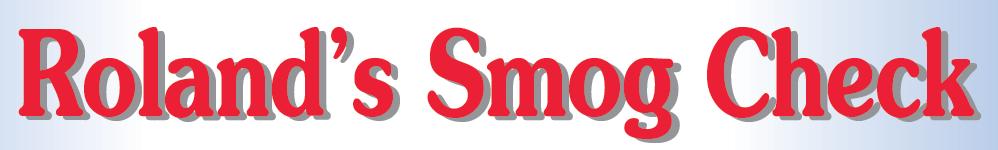 Roland's Smog Check logo
