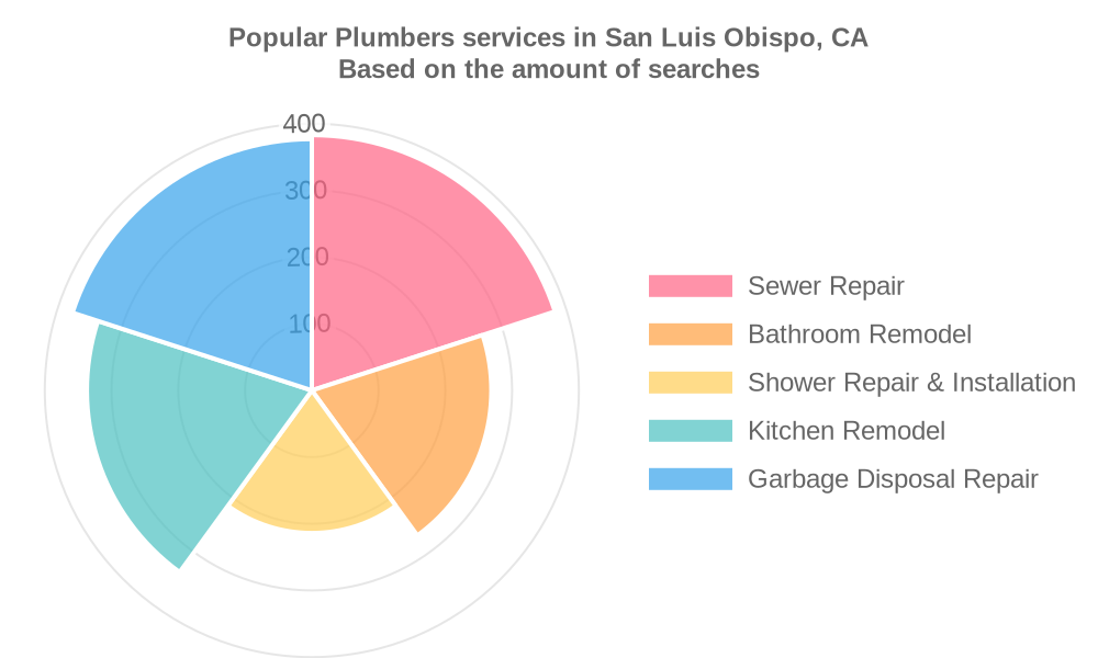 Popular services provided by plumbers in San Luis Obispo, CA
