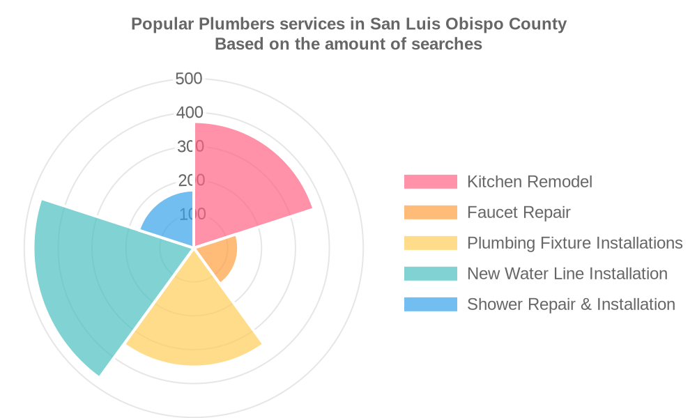 Popular services provided by plumbers in San Luis Obispo County