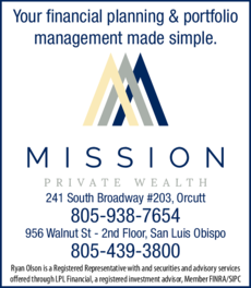 Print Ad of Mission Private Wealth